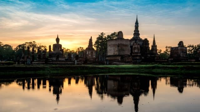 Sukhothai Historical Park sunrise timelapse, Thailand, 4K Time lapse Sukhothai Historical Park sunrise timelapse, Thailand, 4K Time lapse sukhothai stock videos & royalty-free footage