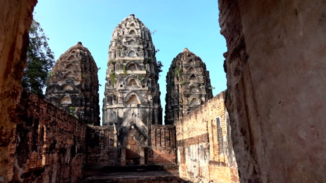 Sukhothai historical park with temple background, Thailand Sukhothai historical park with temple background, Thailand sukhothai stock videos & royalty-free footage