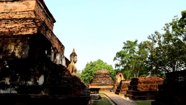 Sukhothai Pagoda in Sukhothai historical park, Thailand sukhothai stock videos & royalty-free footage