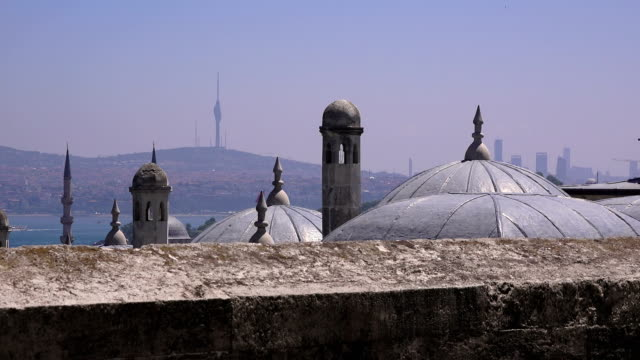 Suleymaniye Mosque - a grand complex of the Ottoman era, the largest Islamic temple in Istanbul, Turkey - video
