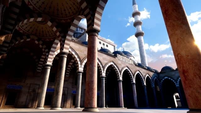 3 d moschea di suleyman - istanbul video stock e b–roll