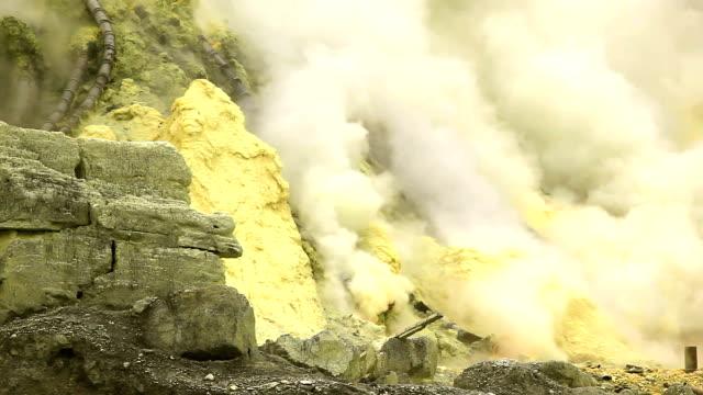 Sulfur Mine Khawa Ijen Indonesia video