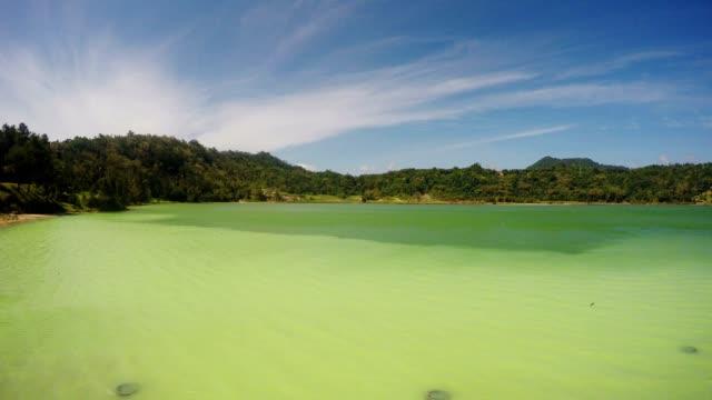 sulphurous lake - danau linow indonesia video