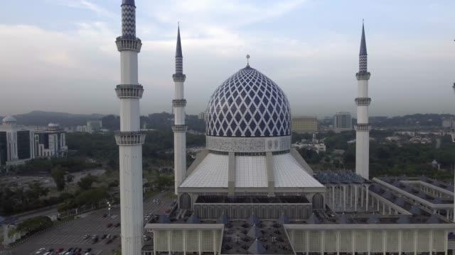 sultan salahuddin abdul aziz mosque. - kuala lumpur video stock e b–roll