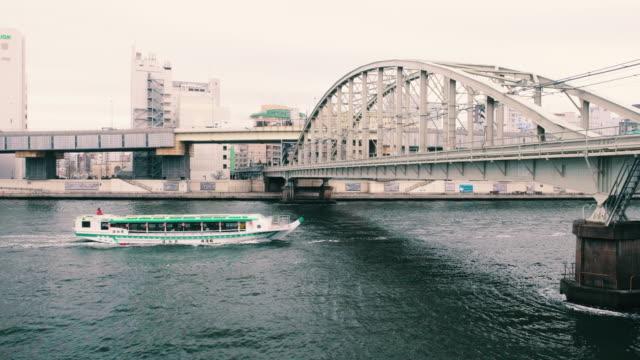Sumida River Tokyo Japan - video