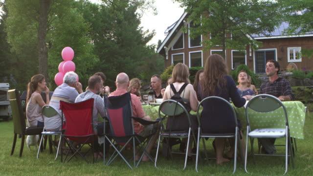 Sommer BBQ große Familienfeier Natur – Video