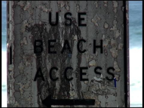 lato dostęp do plaży - zachodnie pismo filmów i materiałów b-roll
