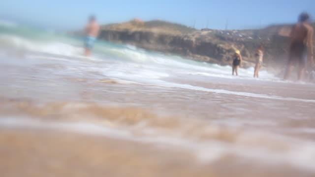 Summer beach slow motion video