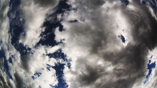 Summer clouds. Time lapse video