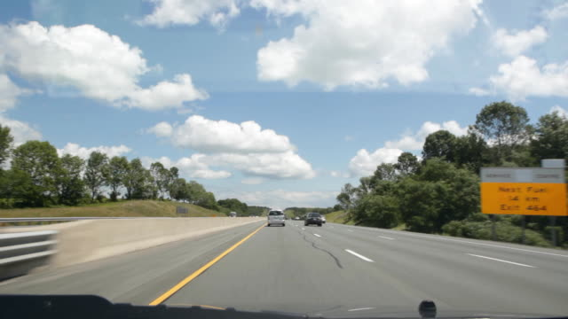 Summer highway driving. video