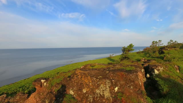 Summer in the Arctic. Beautiful views in the White sea video