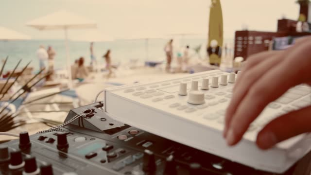 Summer music festival on the beach.