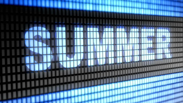 'Summer' on the Screen. 4K Resolution. Looping. video