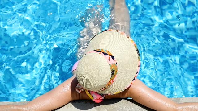 Summer resort & elegant woman video