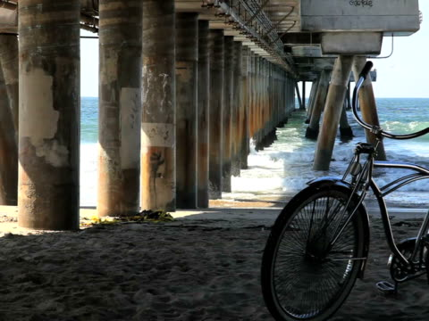Summer Scene: Bike, Pier, Waves video
