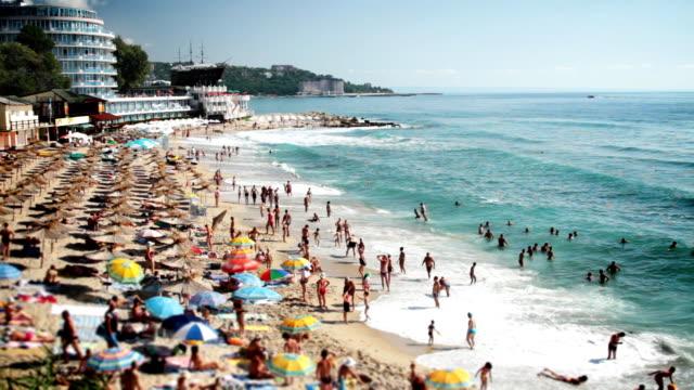 lato morze beach resort - bułgaria filmów i materiałów b-roll