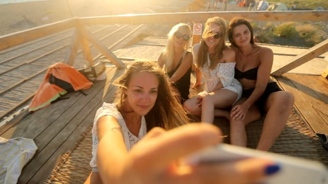 stockvideo's en b-roll-footage met zomer selfie - boho