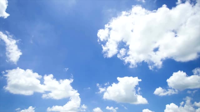 summer sky with cloud, time lapse video