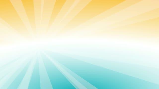 vídeos y material grabado en eventos de stock de tiempo de verano, fondo con cielo resplandeciente. animación 2d. imágenes de bucle 4k - summer background