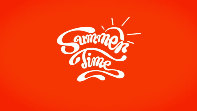 Summer Time -Text Summertime Classic Animation. Loop-able typescript stock videos & royalty-free footage