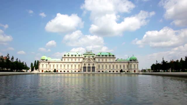 Summer view of Upper Belvedere in Vienna, Austria video