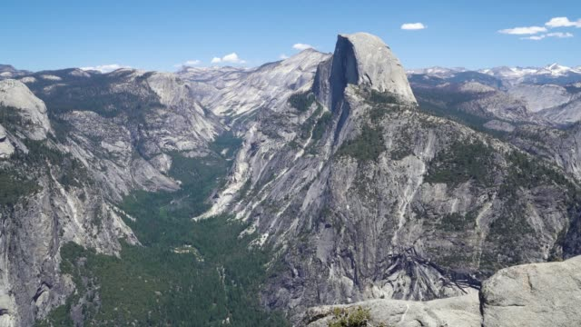 summer view of Yosemite valley with half dome
