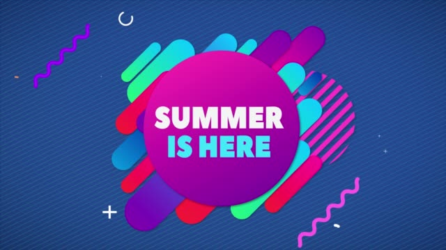 summer yellow, juicy title text on a abstract background. - summer background стоковые видео и кадры b-roll