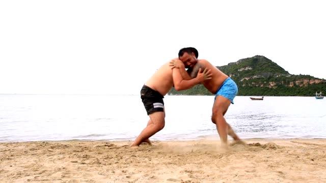 sumo-ringen am strand - sumo stock-videos und b-roll-filmmaterial