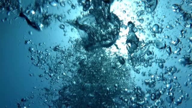 Sun and Bubbles under Sea video