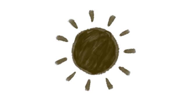 Sun animation black