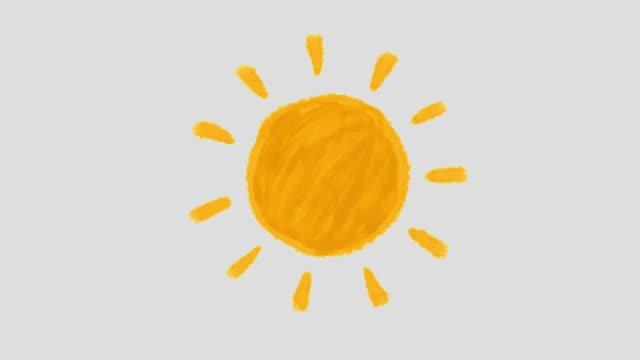 Sun animation orange