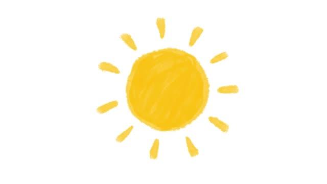animazione solare bianco originale - sole video stock e b–roll