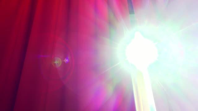 Sun Light Through Red Curtain video