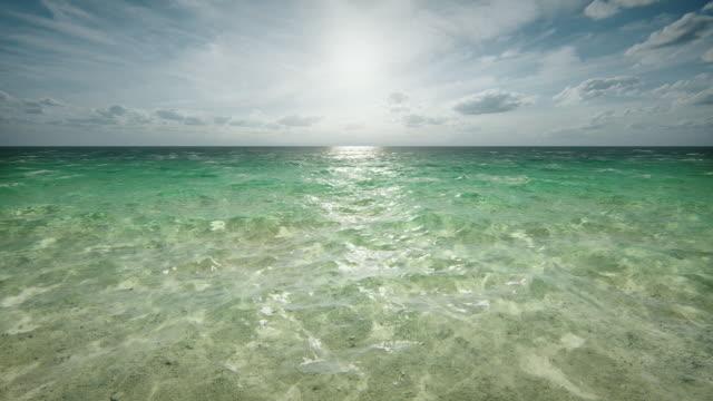 Sun over tropical ocean