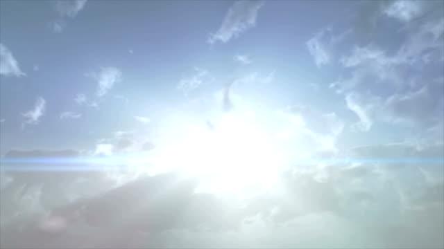 raggio di sole - paradiso video stock e b–roll
