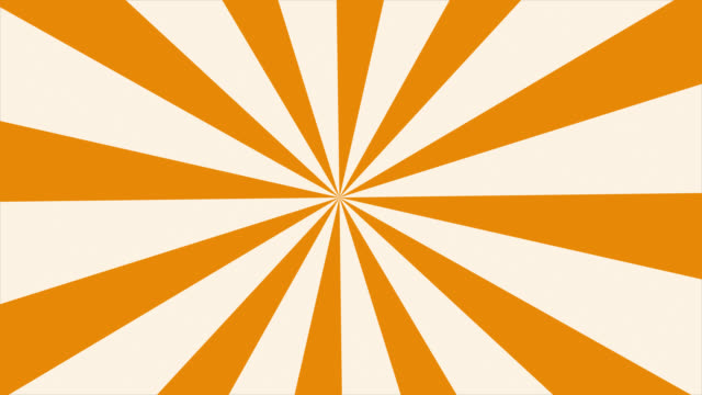 Sun rays rotates on the white background.2d Cartoon sun light background.seamless loop. Stripes rotating.