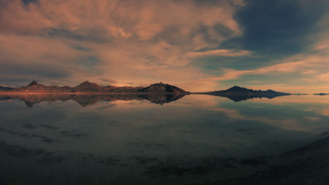 Sun rise time lapse at Bonneville salt flats  salt flat stock videos & royalty-free footage