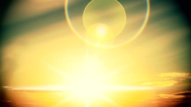 Sun rises time lapse to afternoon