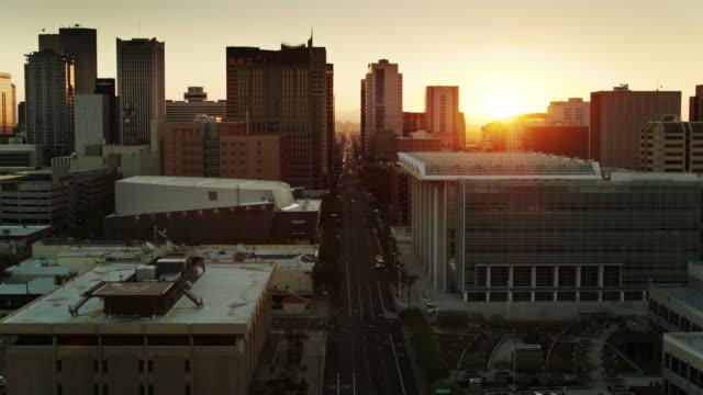 Sun Rising on Phoenix - Drone Shot