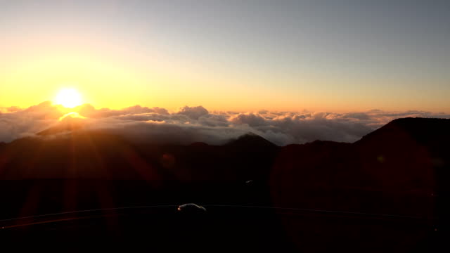 Sun Rising Over Mountain Switchback video