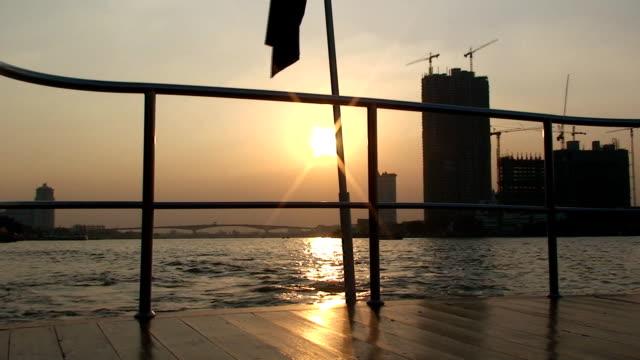 Sun set river video