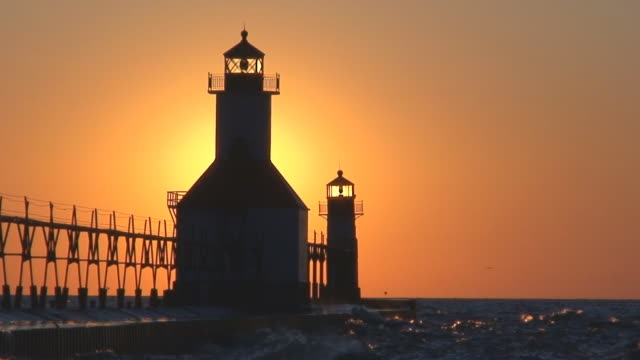 Sun Setting Behind Lighthouse Part 11 video