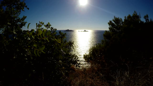 Sun Shining Above Calm Sea video