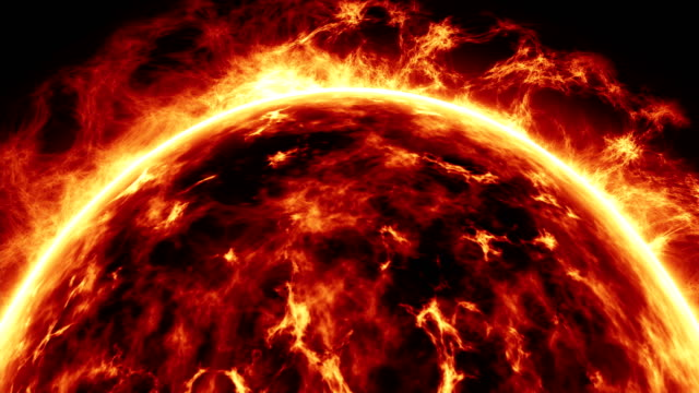 sun surface and solar flares - flare video stock e b–roll