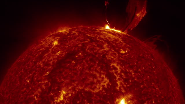 Sun surface animation. Nasa Public Domain Imagery Burning gas sphere. Sun model surface level stock videos & royalty-free footage
