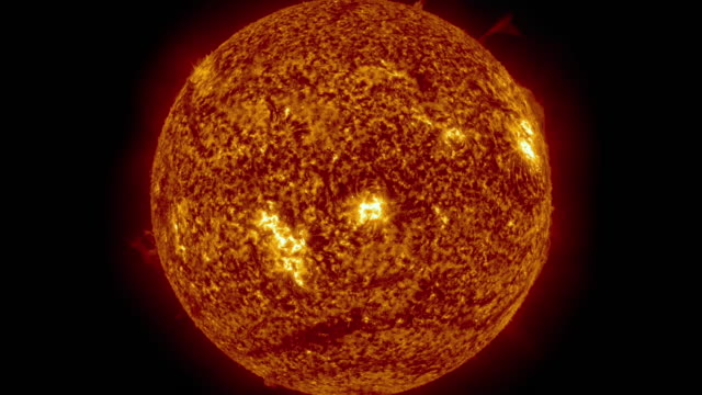Sun surface animation. Nasa Public Domain Imagery