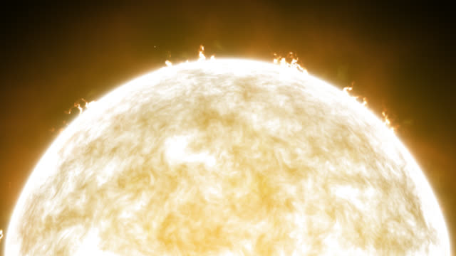 sun with solar flares - flare video stock e b–roll