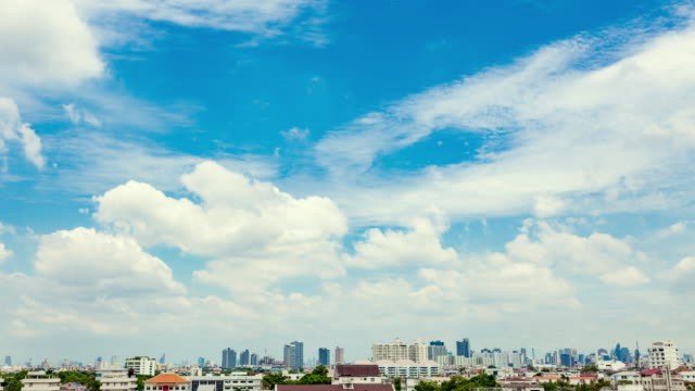 Sunbeam In Bangkok City : Time-Lapse clouds sky scape video
