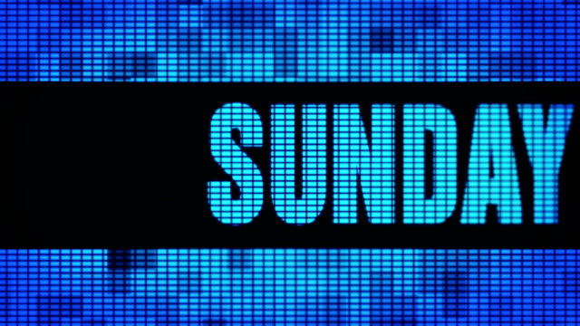 sunday front text scrolling led wall pannel display sign board - jesus christ filmów i materiałów b-roll