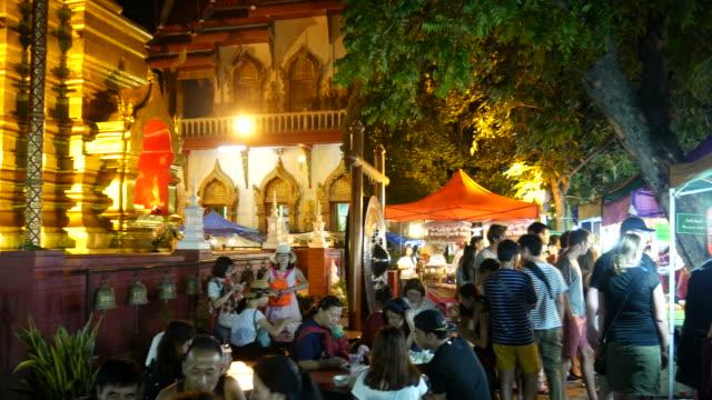 Sunday walking street (Thapae walking street) in Chiang Mai, Thailand video